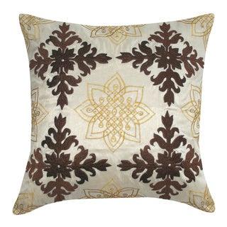 Medallion Embroidered Decorative Throw Pillow (India)
