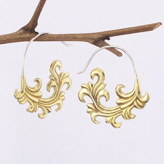 Tribal Fronds Tribal Fusion Earrings (Indonesia)