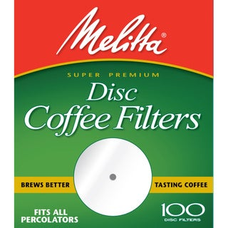Melitta 628354 Paper White 3.5-inch Disc Coffee Filters- 400 Count