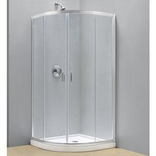 DreamLine Prime Sliding Shower Enclosure and 33x33-inch Shower Base