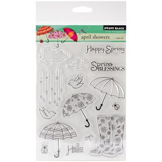 """Penny Black Clear Stamps 5""""X6.5"""" Sheet-April Showers"""