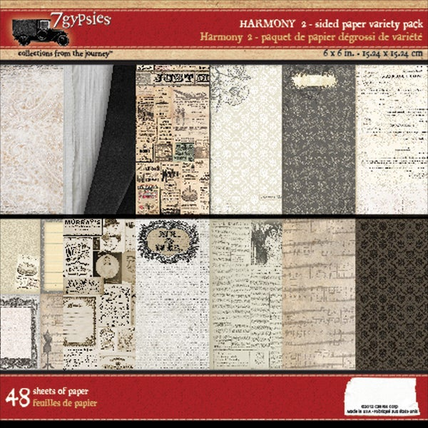 Harmony Double-Sided Paper Pack 6X6in 48/Sheets