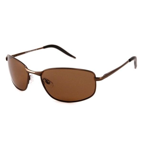 Alta Vision Men's/ Unisex Santa Cruz Bronze/Polarized Brown Rectangular Sunglasses