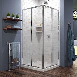 DreamLine Cornerview Sliding Shower Enclosure and 36x36-in Shower Base
