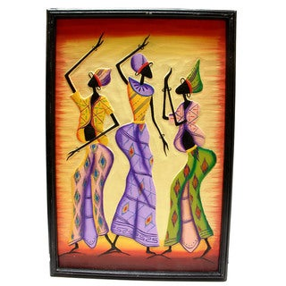 Tribal Dancers Canvas Wall Art (Indonesia)
