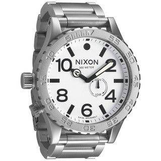 Nixon Men's 51-30 A0571166-00 Silver Stainless-Steel Swiss Quartz Watch