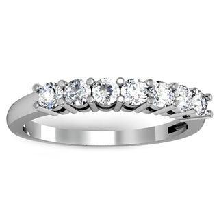 14k White Gold 1/2ct TDW Diamond Wedding Band (H-I, I1-I2)