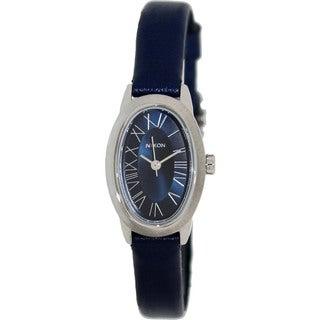 Nixon Women's Scarlet Leather A247307-00 Blue Leather Quartz Watch with Blue Dial