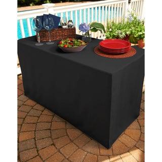 Black Folding Table Tablecloth