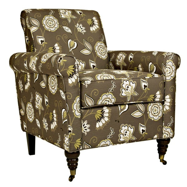 Better Living Hyde Brown Floral Chair