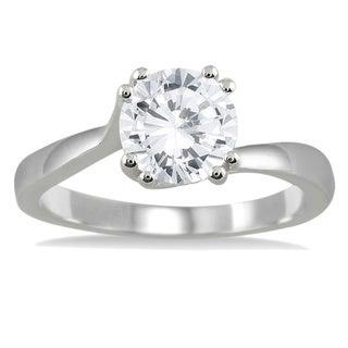 14k White Gold 1ct TDW Diamond Solitaire Engagement Ring (I-J, I2-I3)