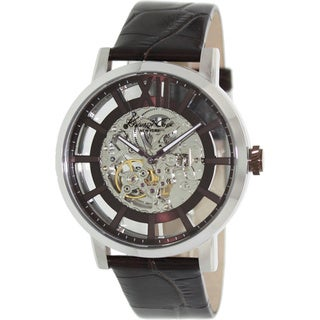 Kenneth Cole Men's Automatic KC1921 Brown Leather Automatic Watch with Silver Dial