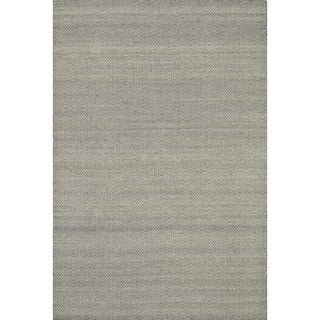 Hand-woven Poplin Plum Wool/ Cotton Rug (7'10 x 11)
