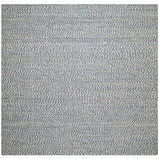 Safavieh Handwoven Doubleweave Sea Grass Blue Rug (8' Square)