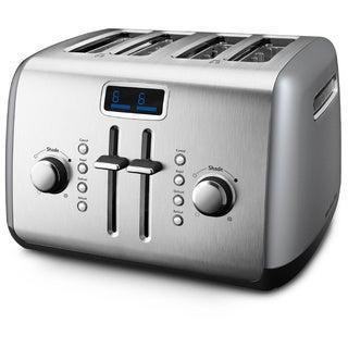 KitchenAid RKMT422CU Contour Silver 4-slice Manual High-Lift Lever Toaster (Refurbished)
