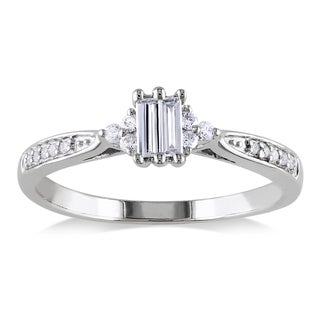Miadora 10k Gold 1/4ct TDW Baguette Cut Diamond Ring (G-H, I1-I2)