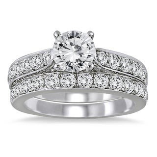 14K White Gold 2 1/2ct TDW Round Diamond Bridal Set (I-J, I2-I3)