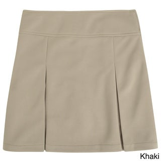 French Toast Girls Kick Pleat Scooter Skirt