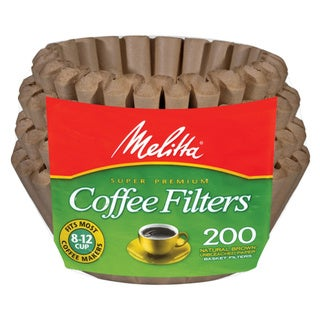 Melitta 62957 Natural Brown 8-12 Cup Paper Basket Coffee Filters- 600 Count