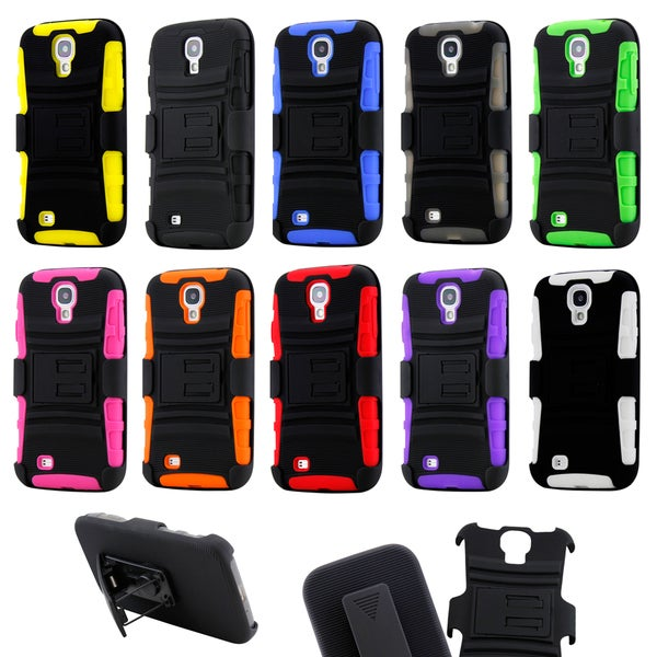 Gearonic Hybrid Hard Case Cover Belt Clip for Samsung Galaxy S4 i9500