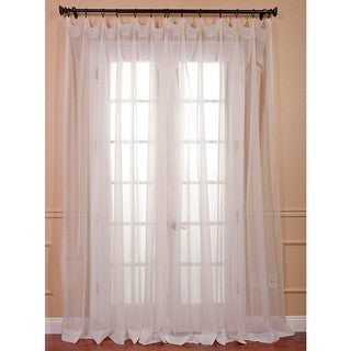 White Doublewide Poly Voile Sheer Panel