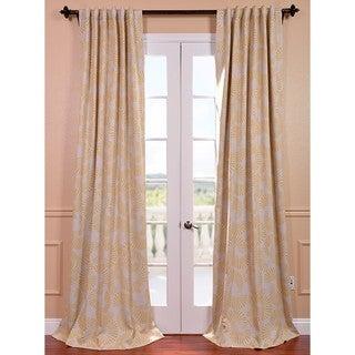Sunburst Yellow/ Natural Pole Pocket Blackout Curtain Panel