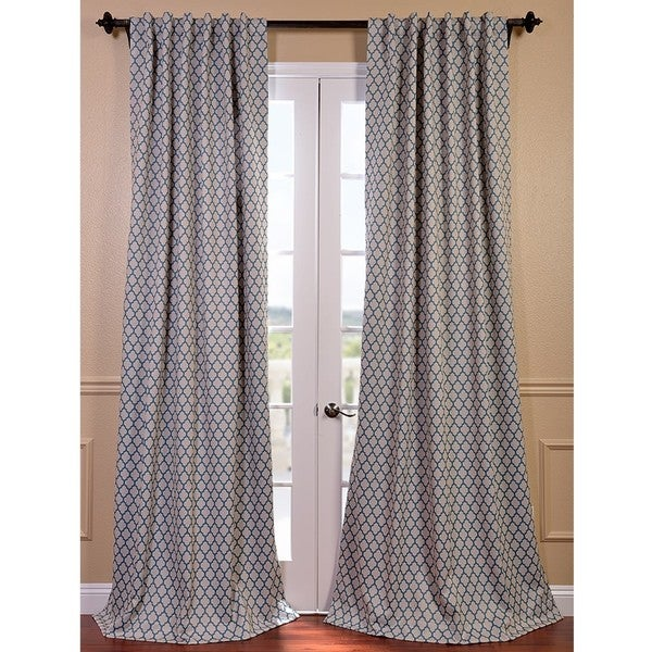 casablanca aqua beige pole pocket blackout curtain panel overstock