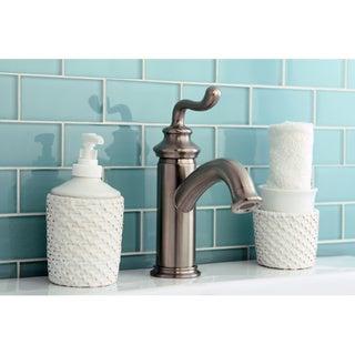 Single Handle Satin Nickel Single-hole Bathroom Faucet