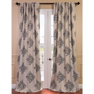 Tugra Printed Blackout Pole Pocket Curtain Panel