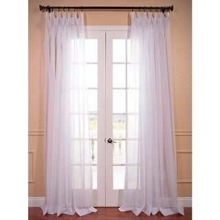 Extra Wide White Poly Voile Sheer Curtain Panel