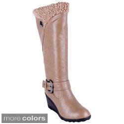 Reneeze Women's 'ADDIE-03' High Heel Knee-high Boots