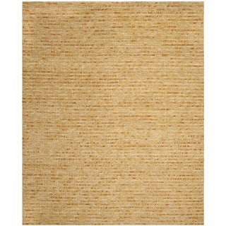 Safavieh Hand-knotted Vegetable Dye Chunky Gold Hemp Rug (8' x 10')