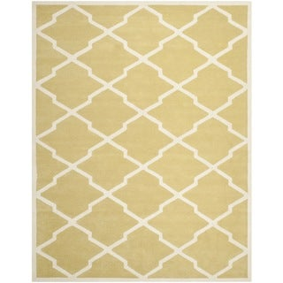 Safavieh Handmade Moroccan Chatham Light Gold/ Ivory Wool Rug (8'9 x 12')