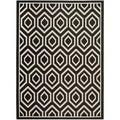 Safavieh Indoor/ Outdoor Courtyard Geometric Black/ Beige Rug (6'7 x 9'6)