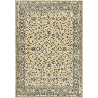 Karastan English Manor Somerset Lane Ivory/Blue Rug (8'6 x 11'6)