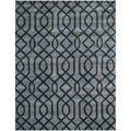 Safavieh Hand-made Soho Grey/ Dark Blue Wool Rug (7'6 x 9'6)
