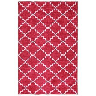 Fancy Trellis Hot Pink Rug (5' x 8')