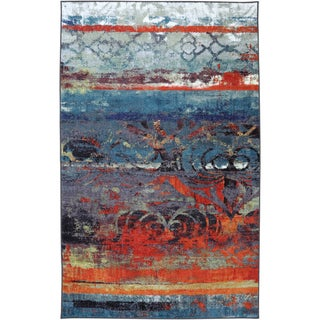 Eroded Color Multi Rug (5' x 8')