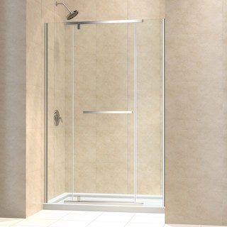 DreamLine Vitreo-X Pivot Shower Door and 32x60-inch Shower Base