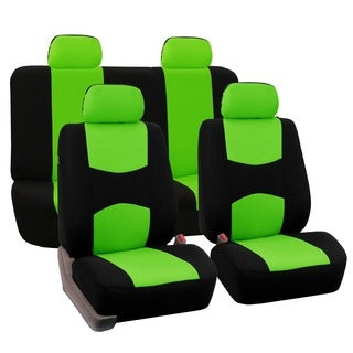 FH Group Green Full Set Fabric Auto Seat Covers