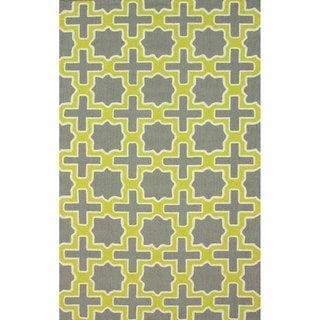 nuLOOM Handmade Marrakesh Trellis Grey Wool Rug (8'6 x 11'6)