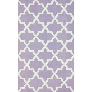 nuLOOM Handmade Alexa Moroccan Trellis Wool Rug(8'6 x 11'6)