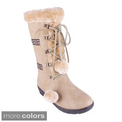 Reneeze Women's 'Coco-01 Lace-up Tasseled Cold Weather Boots