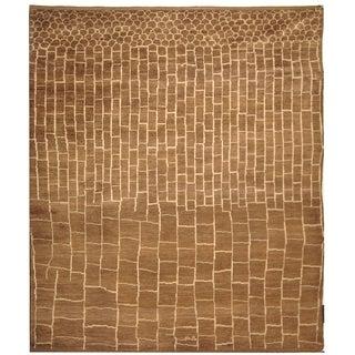Safavieh Hand-knotted Aspen Walnut/ Ivory Wool Rug (8' x 10')