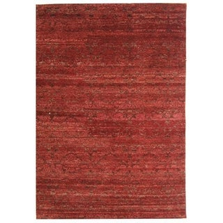 Safavieh Hand-knotted Castilian Red/ Red Wool Rug (9' x 12')