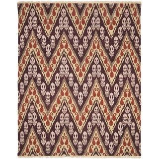 Safavieh Hand-knotted David Easton Amethyst Tlight Wool Rug (9' x 12')