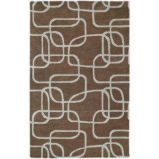 Graffix Dimensions Hand-Tufted Brown Rug (9'6 x 13')