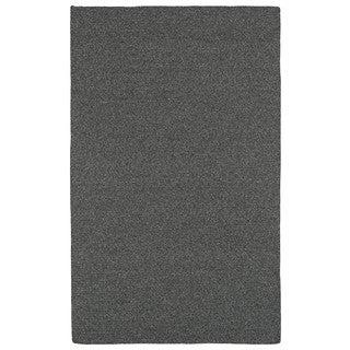Malibu Indoor/Outdoor Woven Charcoal Rug (9'0 x 12'0)