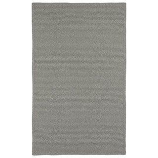 Malibu Indoor/ outdoor Woven Grey Rug (8'x11')