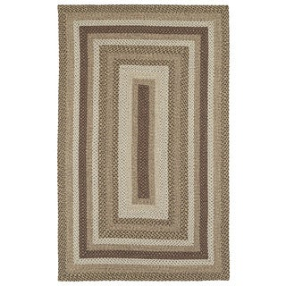 Malibu Indoor/ outdoor Woven Mocha Rug (9'x12')